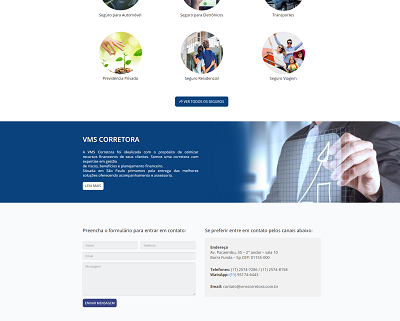 Website WordPress para Corretora de Seguros